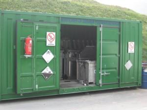 Pomični kontejner za nevarne odpadke